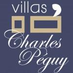 LOGO-CHARLES PEGUY-FOND BLEU